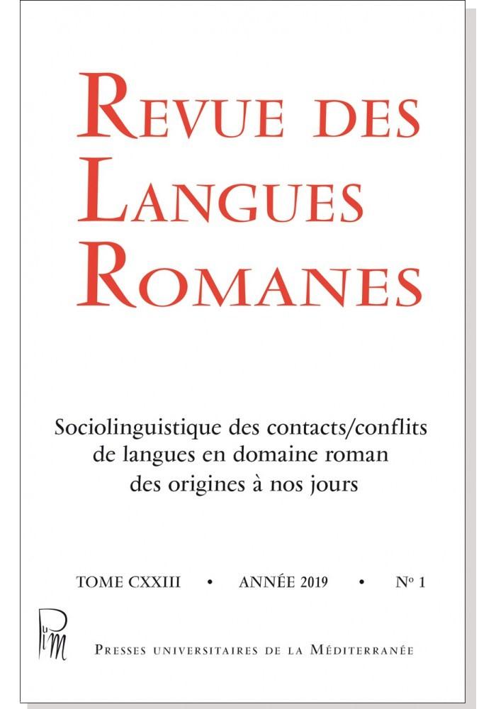 Revue des Langues Romanes 123